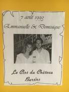 4549 -  Mariage Emmanuelle & Dominique 7 Août 1993 Le Clos Du Château Bursins Vaud Suisse - Autres
