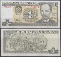 2003-BK-117 CUBA 2003 1 PESO. JOSE MARTI. NO CONMEMORATIVO. RARO. - Cuba