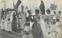A-17- 8290 : SALON DE PARIS. 1907. PROCESSION DES MATELOTES DU COURGAIN PAR H. L JUCQUET. BOULOGNE SUR MER - Schilderijen