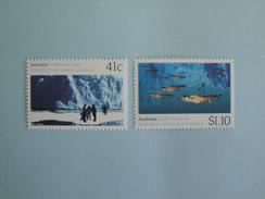 Australie 1990 Yvert 1173/4  ** Antarctic Joint Issue  Scott 1182/3  Michel 1215/6  SG 1261/2 - 1990-99 Elizabeth II