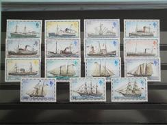 1977  Falkland Yvert 254/68  ** Bateaux Postal Ships  Scott 260/74  Michel 255/69  SG 331A/45A Definitives - Falkland
