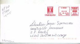 Lettre Flamme Ema Le Raincy Congres Relation - Marcophilie (Lettres)
