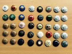 Lot De 40 Capsules Champagne (Jacquesson, Mailly, Derouilat, Moët Chandon, ...) - Collections
