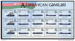 AZERBAIJAN 1994 Caspian Ships Sheetlet MNH / ** - Azerbaïjan