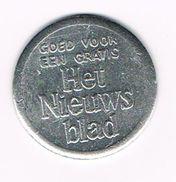 )  JETON  GOED VOOR EEN GRATIS HET NIEUWSBLAD - Firma's