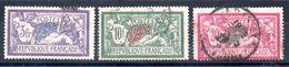FRANCE - YT N° 206 à 208 - Cote: 65,00 €  - (DF) - Used Stamps