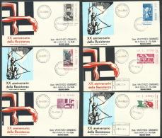 1965 ITALIA FDC RE.RU. RESISTENZA NO TIMBRO ARRIVO - KI10-8 - F.D.C.