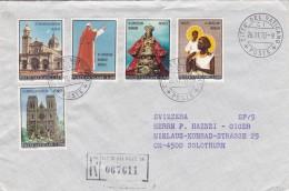 Brief Vaticano 1970. Nach Solothurn. Mi: 572 - 576. Einschreiben - Vatican