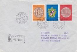 Brief Vaticano 1970. Nach Solothurn. Mi: 561 - 563. Einschreiben - Vatican