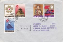 Brief Vaticano 1970. Nach Solothurn. Mi: 556 - 560 Einschreiben - Vatican