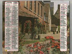 Calendrier Grand Format 20 Pages , Oberthur , 1989 ,3 Scans , Frais Fr : 2.70 Euros - Big : 1981-90