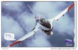 TELECARTE JAPON * MILITAIRY AVION  (318) Flugzeuge * Vliegtuig * Aeroplani * Airplane * Aeroplanos * PHONECARD JAPAN - Armée