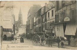 Attelage Cheval à Chapeau Laiterie Des Prairies De L' Aisne Rue Julien Lacroix Paris 20 Eme Lampe Petrole - Non Classés