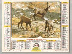 Calendrier Grand Format 16 Pages , ALMANACH 1987 DES P.T.T.  ,4 Scans , Frais Fr : 2.70 Euros - Big : 1981-90