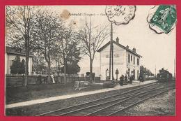 CPA Anould - Gare Et Café - Anould