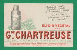 Buvard - GRANDE CHARTREUSE - ELIXIR VEGETAL - Buvards, Protège-cahiers Illustrés