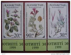 Kazakhstan 1999 Flowers  3 V. MNH - Kazakistan