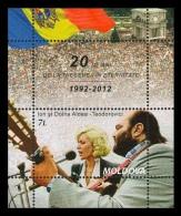 Moldova 2012 Mih. 787 (Bl.60) Music. Ion And Doina Aldea Teodorovichi MNH ** - Moldavia