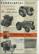 LAMBORGHINI TRATTORI ( TRATTRICI) PUBBLICITA' ADVERTISING BROCHURE - Publicidad