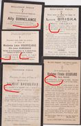 Stavelot Bonnelance Courtejoie Bomerson Grisband Mignon Briska Crahay 1900 & Après /  Lot De 5 Souvenirs - Obituary Notices