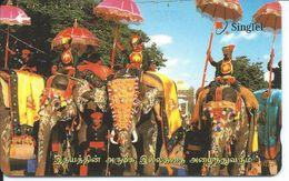 éléphant Elephant  Animal Télécarte Phonecard Karte (S.388) - Singapour