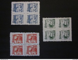 Feldpost Dänemark / Dänische Legion Nr. I-III  VIERERBLOCK / Nachdruck- - Besetzungen 1938-45