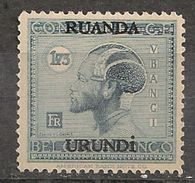 CONGO RUANDA URUNDI 75 1f75 MNH NSCH ** - 1924-44: Mint/hinged