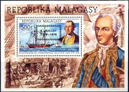 FAMOUS PEOPLE-GEORGE WASHINGTON-SHIPPING-OVERPRINT-MALAGASY-1976-MS-MNH-J-30 - George Washington