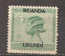 CONGO RUANDA URUNDI 79 10c MNH NSCH ** - 1924-44: Neufs