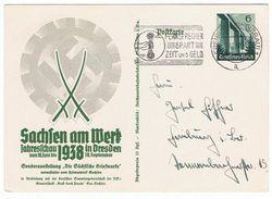 Sonderganzsache Sachsen Am Werk Bedarfsgebraucht - Deutschland