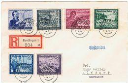 R-Brief Mit Satz Postkameradschaft Mai 1944 Mit Spätverwendung Des Altdeutschlandstempel,FDC? - Briefe U. Dokumente
