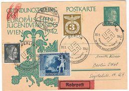 Sonderganzsache Per Rohrpost Portogerecht In Berlin Gelaufen - Briefe U. Dokumente
