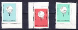 BASEL 1954 - BALLONTAUFE - 3 VIGNETTES** - BLEU,ROUGE,VERT - Cinderellas