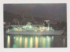 STEAMER MS AIVAZOVSKY In The Seaport Of Yalta Soviet Passenger Ship - Piroscafi