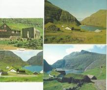 FAROE ISLANDS SaksunDuvugardur Kirkjubour 3 Cards - Faroe Islands