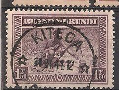CONGO RUANDA URUNDI 112 KITEGA - 1924-44: Gebraucht