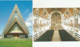 FAROE ISLANDS Faroese Church Kristians Kirkja Klasvik Vesturkirkjan I Havn Torshavn 2 Cards - Faroe Islands