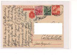 7106 Intero Postale Luogotenenza Posta Aerea Sovrastampato + Aggiunti - Storia Postale