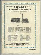 1921 FRANCESCO CASALI- SUZZARA. CATALOGO MACCHINE AGRICOLE ( TRATTRICI -trattori-, TREBBIATRICI ,ARATRI - Italia