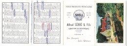 Ariége , Labastide De Bousignac , Publicité Shell . A Sénié Et Fils , Calendrier 1962  , Code De La Route - Calendriers