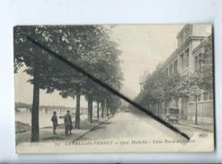 CPA  - 39 -  Levallois Perret - Quai Michelet - Usine Bayard Clément - Levallois Perret