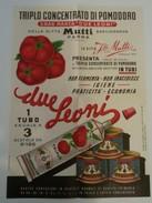 MANIFESTINO PUBBLICITA' POMODORO MUTTI  DUE LEONI .BASILICANOVA - PARMA . ADVERTISING BROCHURE - Italia