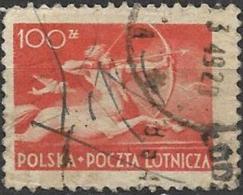 POLAND 1948 Air. Sagittarius - 100z. - Orange AVU - Ohne Zuordnung
