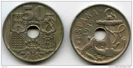 Espagne Spain 50 Centimos 1949 KM 777 - [ 5] 1949-… : Royaume