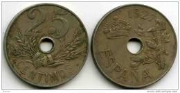 Espagne Spain 25 Centimos 1927 KM 742 - [ 1] …-1931 : Royaume
