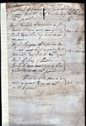 1681(?) Rents Due From Nicholls Of Westham; Sympson Of Eastham; Frfanoy Of Sandham; & Holbird Of Plaistow.  Ref 0375 - Documentos Históricos