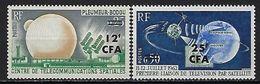 """Reunion YT 355 Et 356 """" Télécommunications Spaciales """" 1963 Neuf* - Reunion Island (1852-1975)"""