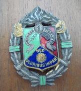 Insigne 1 Er REC - Légion Etrangère - Drago Béranger -  Indo -  Indochine. - Army
