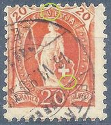 Stehende Helvetia 66D, 20 Rp.orange  ESTAVAYER             1898 - Usati