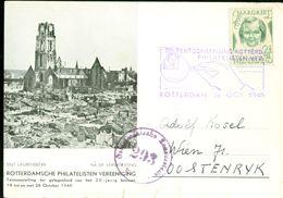 POSTKAART Uit 1946 GEFRANKEERD MET MARGRIET ZEGEL Gelopen Naar WIEN OOSTENRIJK (10.642k) - Period 1891-1948 (Wilhelmina)